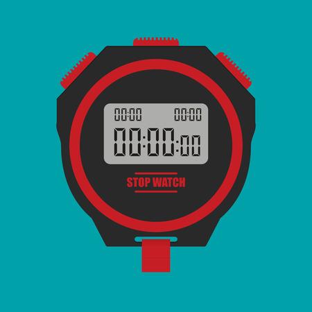 Stopwatch. Flat icon vector.