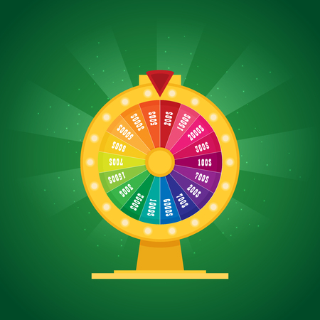Fortune of wheel. Flat vector