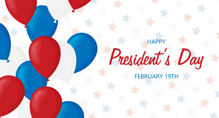 Flat presidents day vector