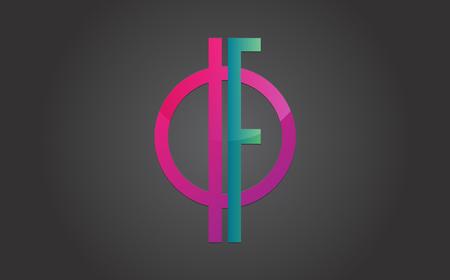 Graphic Branding Letter Element.