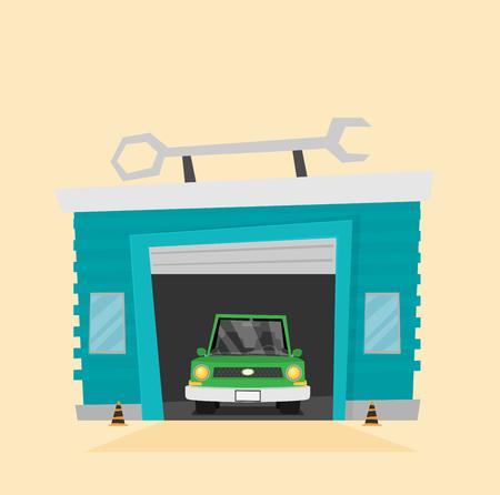 Vector Car Service flat. Stock Vector - 124190037