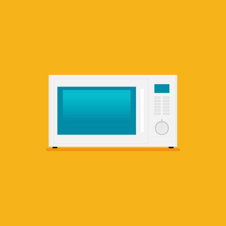 microwave icon in flat style vector