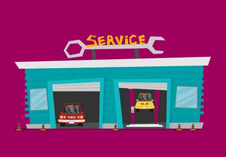 Vector Car Service flat. Illustration