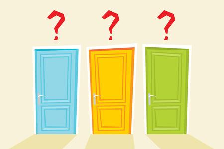 Doors. Vector flat illustration Ilustração