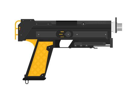 Futuristic Sci-Fi Pistol flat vector