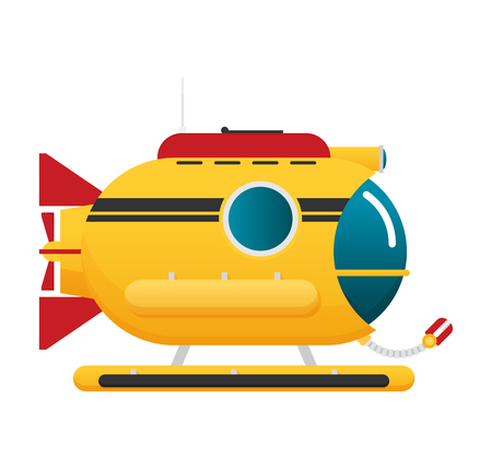 Transportation Submarine flat icon Ilustrace