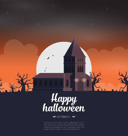 Halloween background flat design vector Stock fotó - 129787549