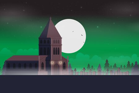 Halloween background flat design vector Stock fotó - 129787578