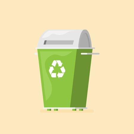 Waste sorting garbage bin vector  イラスト・ベクター素材
