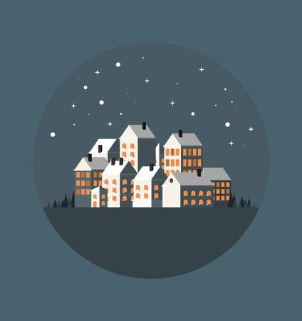 Urban landscape. Old city. Flat vector illustration. Imagens - 129787591