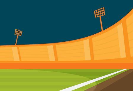 Background of football stadium vector flat design illustration. Imagens - 129787594
