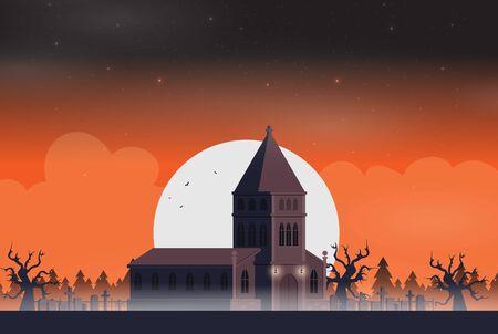 Halloween background flat design vector Stock fotó - 129787602