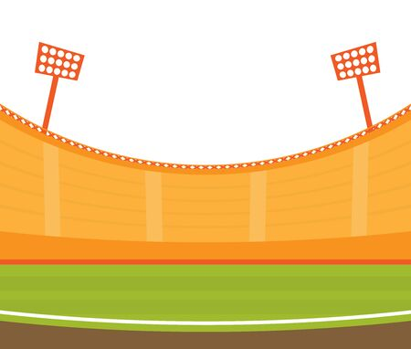 Background of football stadium vector flat design illustration. Imagens - 129787635