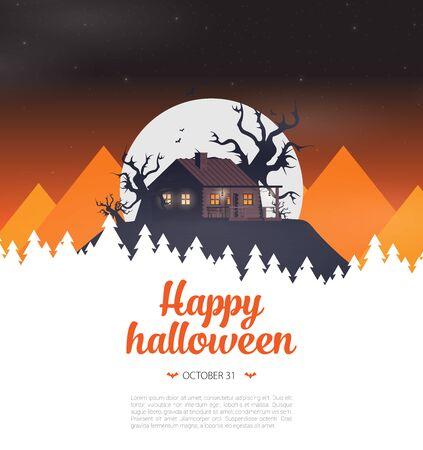 Halloween background flat design vector Imagens - 129787638