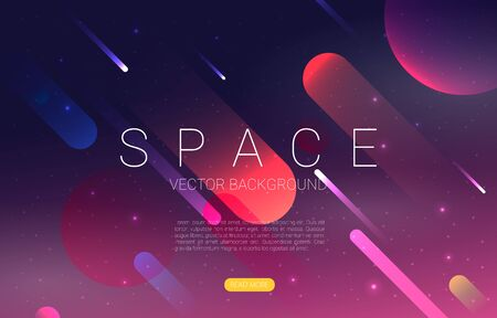 Vector Universe background for presentation design. Brochure template with space elements