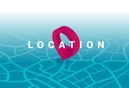 Location pointer icon graphic flat vector Illustration