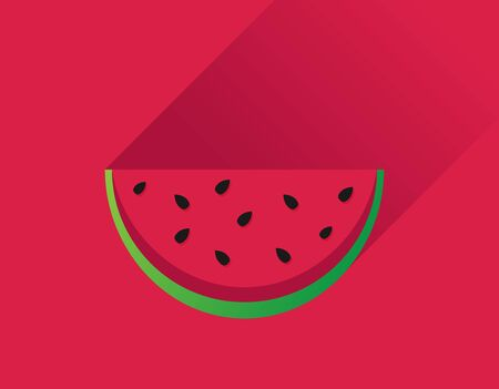 Water melon bitten piece cartoon vector illustration Ilustrace