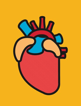Anatomical Heart. Flat style design - vector