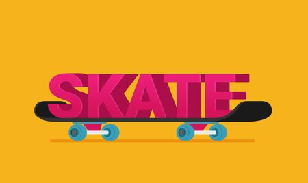 Skateboard vector illustration isolated on background Illusztráció