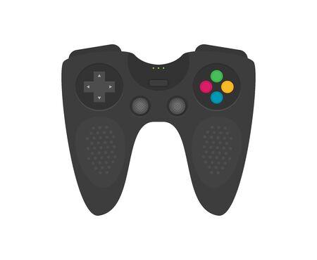 Flat joystick set isolated on white background