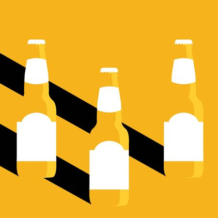 Vector Illustration of beer in flat style with long shadow.  イラスト・ベクター素材