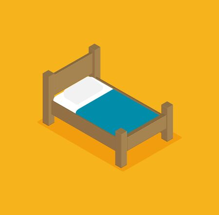 Bunk bed vector illustration in isometric design
