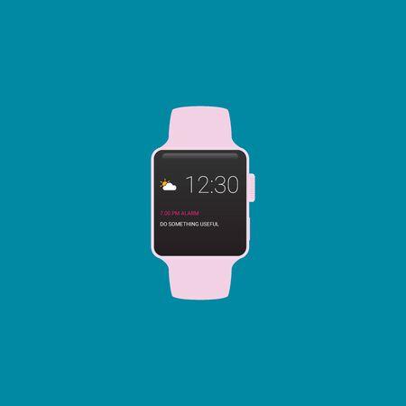 Smartwatch wearable technology. Flat icon