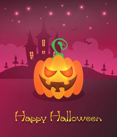 Halloween background flat design vector 스톡 콘텐츠 - 133097837