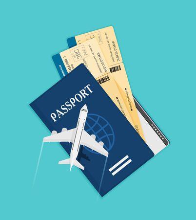 Modern and realistic airline ticket design. Vector stock illustration. Foto de archivo - 133743274