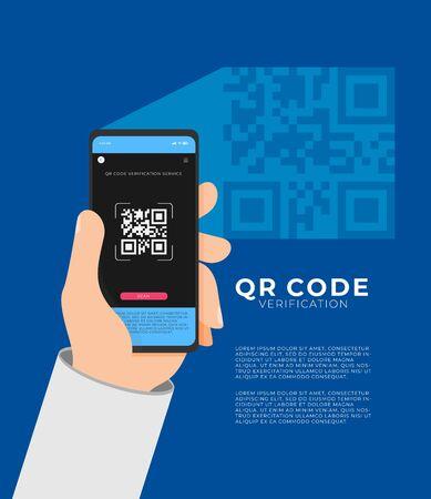 QR code verification service web vector