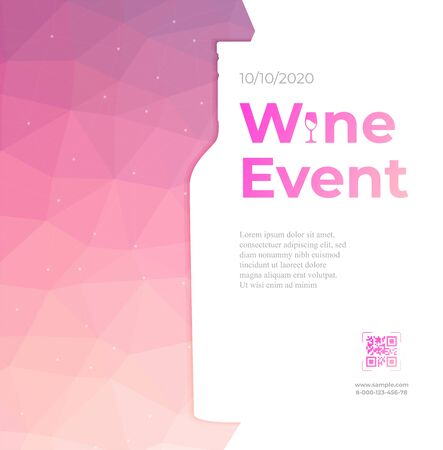 Design for wine event vector colorful background