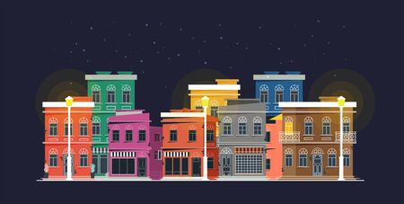 Downtown vector building illustration isolated on background 向量圖像