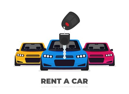 Rent a car design over background, vector illustration 版權商用圖片 - 143521957