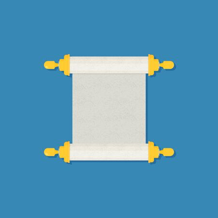 Vector torah isolated on color background flat design