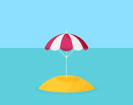 Vector beach umbrella icon flat design