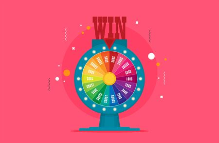 Fortune of wheel. Flat vector isolated on color background Ilustração