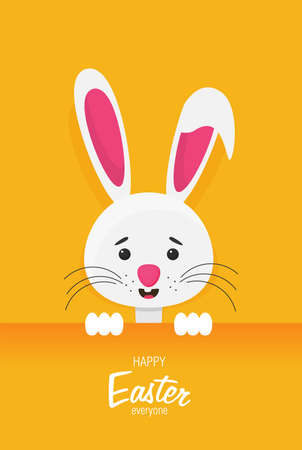 Vector illustration Easter bunny in flat style