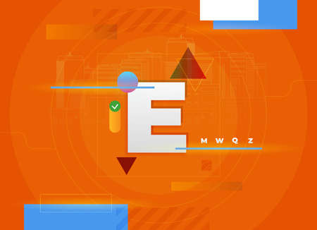 Flat vector. Minimal geometric background. Dynamic shapes composition. Eps10 vector.
