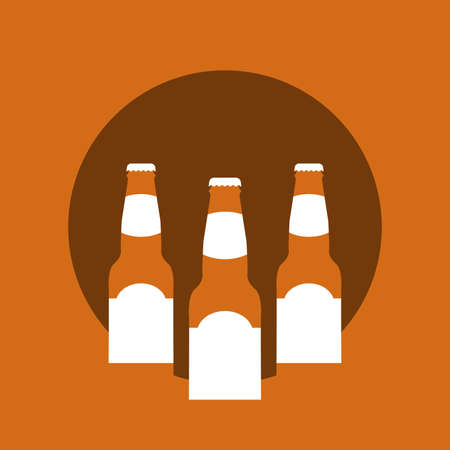 Vector Illustration of beer in flat style with long shadow. Illusztráció