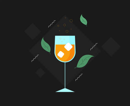 Isolated vector cocktail in flat style