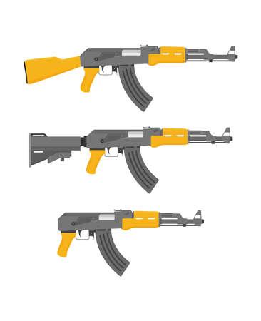 Flat illustration rifle vector for web design