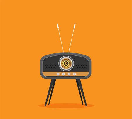 Flat vector illustration Radio. Flat icon Vector Illustration