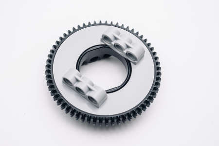 round gear with teeth, part for assembly