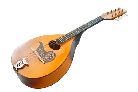 mandolin: mandolin daylight isolated on a white background Stock Photo