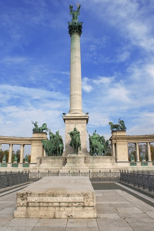 Hungary, Budapest Heroes Square in the summer on a sunny day  photo