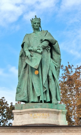 Budapest Heroes Square statue of King András II  photo