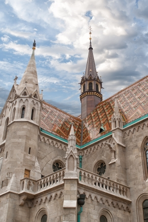 bastion: Fishermen s Bastion in Budapest Stock Photo