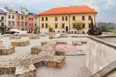 lublin: Lublin, the ruins of the cathedral in the old town