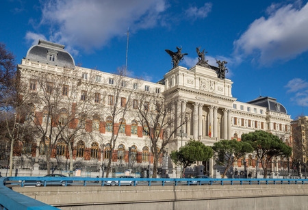 Spain. Madrid. Ministry of agriculture on a sunny day February