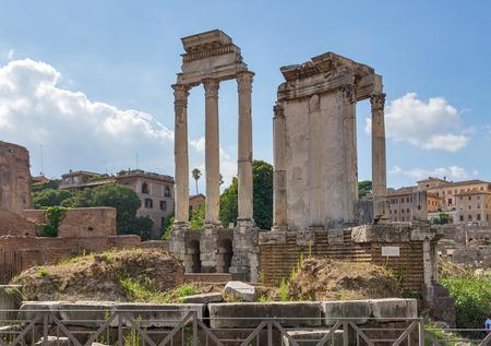 vestal: ruins of the temple of the goddess Vesta in Rome